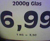 Viel Glas fuer viel Geld
