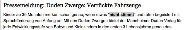 Duden Zwerge (Screenshot Pressemitteilung)