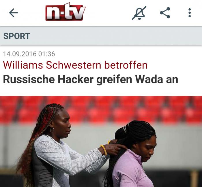 Williams Schwestern - besser bekannt als die Williams-Schwestern